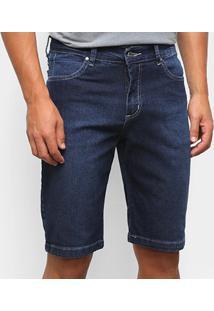 Bermuda Jeans Aleatory Masculina - Masculino-Azul Escuro