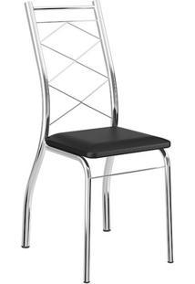 Kit 2 Cadeiras Carraro 1710 | Cor: Cromada