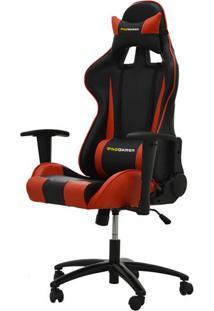 Cadeira Office Pro Gamer V2 Em Pu Preta E Vermelha - 27709 Sun House