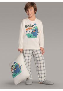 Pijama Masculino Infantil Moletinho 141123 Lua Encantada