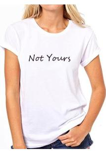Camiseta Coolest Not Yours Feminina - Feminino-Branco