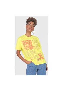 Camiseta Colcci Mickey And Friends Amarela