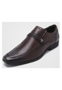 Sapato Social Ferracini Aplique Marrom
