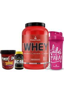 Kit Power Whey Pote + Powerbcaa + Brigadeiro Proteico + Coqueteleira - Feminino