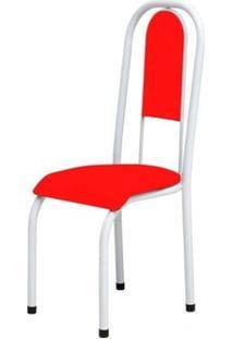 Cadeira Anatômica 0.122 Estofada Branco/Vermelho - Marcheli