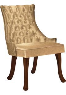 Cadeira Luis Xv T1092-Daf Mobiliário - Mostarda