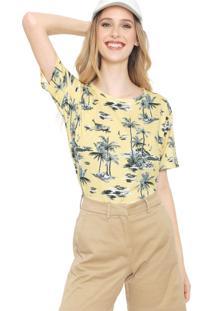 Camiseta Lacoste Estampada Amarela