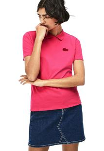 Polo Lacoste Live Slim Fit Rosa