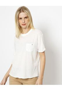 Camiseta Com Bolso- Branca- Tritontriton