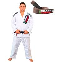 d5894939d Dafiti. Kimono Branco Faixa Marrom Jiu Jitsu Brazil Combat ...