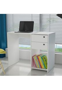 Mesa Para Computador Escrivaninha Bc 38 Branco - Brv Móveis