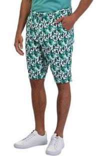 Bermuda Sarja Masculina - Masculino-Verde