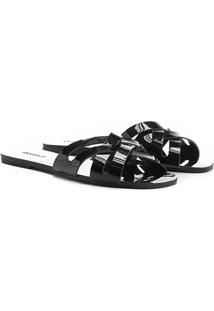 Rasteira Shoestock Slide Verniz - Feminino