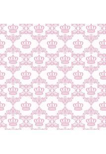 Papel De Parede De Coroa- Rosa Claro & Branco- 300X0Jmi Decor