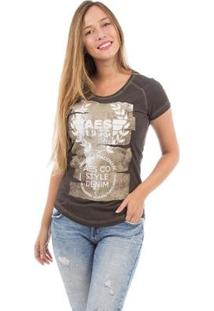 Camiseta Aes 1975 Dark Feminina - Feminino-Preto