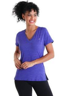 Camiseta Gola V Energy Feminnina - Feminino-Roxo