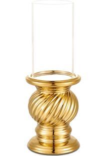 Castiçal Bencafil 64076 Castiçal Torcido Com Cup Dourado