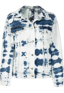 Msgm Jaqueta Jeans Tie-Dye - Azul