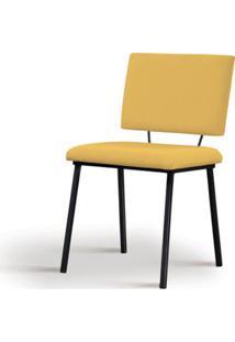 Cadeira Preciosa Amarela Base Preta - 55858 Sun House