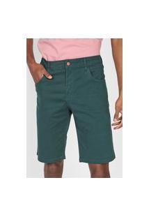 Bermuda Sarja Polo Wear Reta Lisa Verde