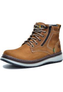 Bota Worker Over Boots Couro Mostarda Urban