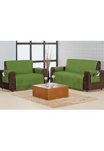 Protetor Sofa Home 3 E 2 Lugares Verde Musgo Enxovais Aquarela