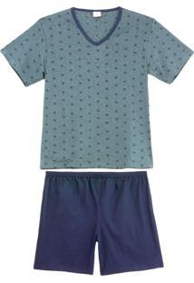 Pijama Masculino Lua Encantada Verão Coqueiros
