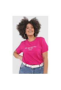 Camiseta Colcci Wmn Pwr Pink