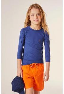 Camiseta Infantil Mini Sm Lycra Ml Reserva Mini Masculina - Masculino-Marinho