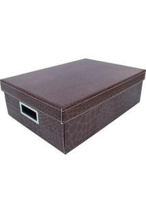 Caixa Organizadora M Dandy - Marrom - 12X27X32Cmboxmania