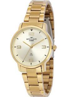 Relógio Feminino Backer Analógico 10267145F - Unissex-Dourado