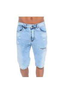 Bermuda Jeans Com Rasgos Ii Emporio Alex