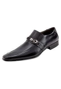 Sapato Confort Ettore, Parma - Couro Preto.