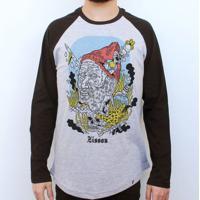 El Cabriton. Steve Zissou - Camiseta Raglan Manga Longa Masculina 23362949c6832