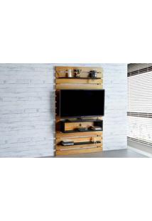 Painel Tv Quarto Standby - Home Suspenso Para Tv Até 45 Polegadas Com Rack Nózes E Preto - 100X23X172 Cm