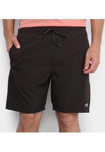 Bermuda Blunt Volley Black Icon Masculina - Masculino-Preto