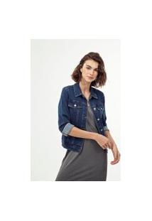 Jaqueta Jeans Básica De Moletom | Marfinno | Azul | P
