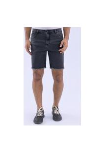 Bermuda Jeans Foxton Black Stone Preto
