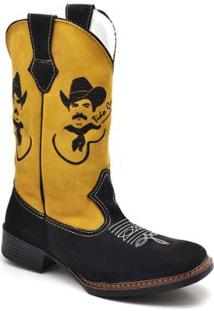 Bota Top Franca Shoes Country Masculino - Masculino-Amarelo