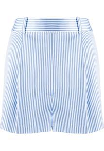 Ermanno Scervino Bermuda De Alfaiataria Listrada - Azul