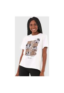 Camiseta Colcci Mickey & Friends Off-White