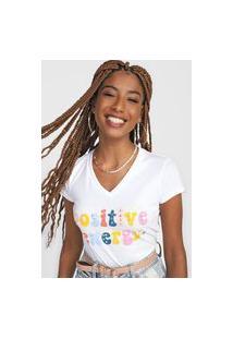 Camiseta Polo Wear Positive Energy Branca