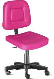 Cadeira Escritório Rosa Giratória