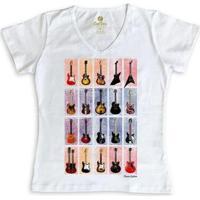 ccd8bd4e65 Camiseta Cool Tees Gola V Feminina - Feminino-Branco