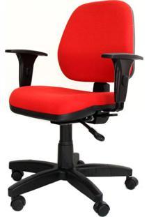 Cadeira Corporate Executiva Cor Vermelho Com Base Nylon - 43942 - Sun House
