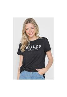 Camiseta Enfim Rules Amarração Preta