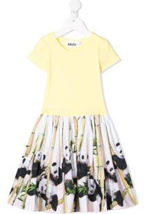 Molo Kids Vestido Com Estampa De Panda - Amarelo