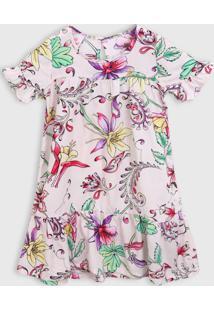 Vestido Abrange Infantil Floral Rosa - Rosa - Menino - Dafiti