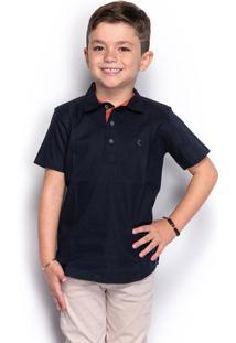 Camisa Social Slim Juvenil Menino Lisa Manga Longa Casual - Kanui