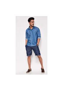 Bermuda Jeans Zait Derick Azul Marinho